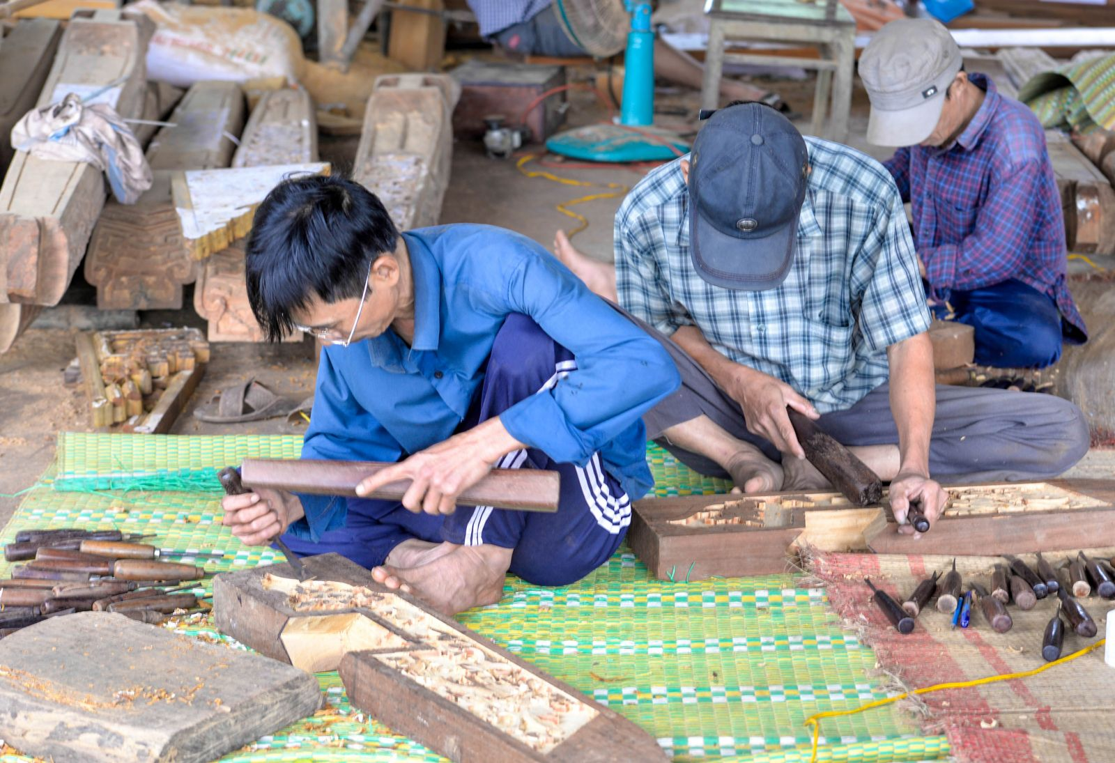 Skilled workers are responsible for the harder steps