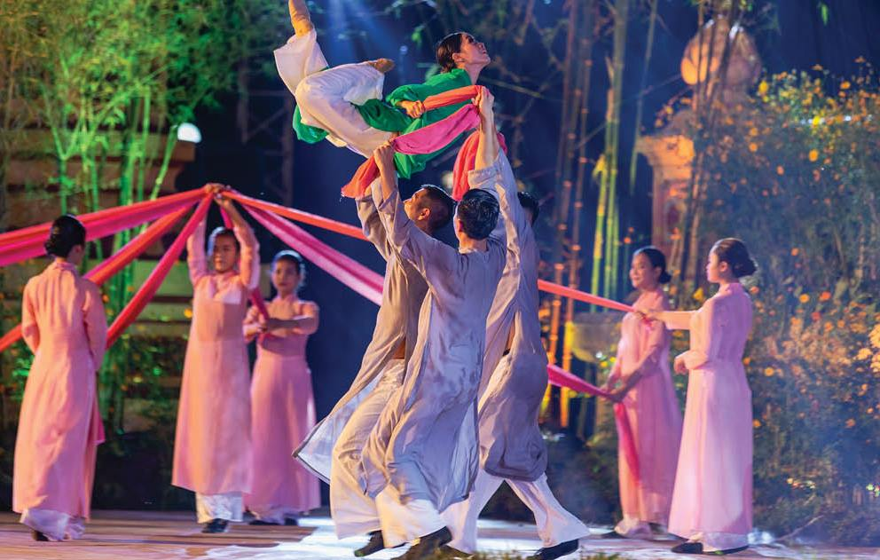 A performance in the opening ceremony