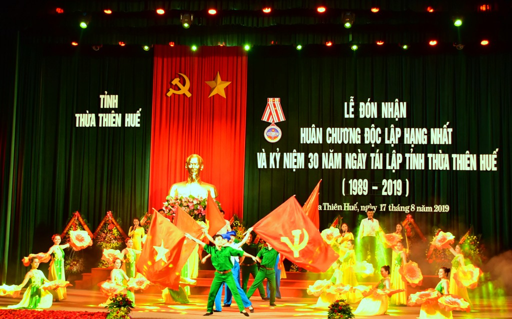 The special performance showcasing the development of Thua Thien Hue in all fields