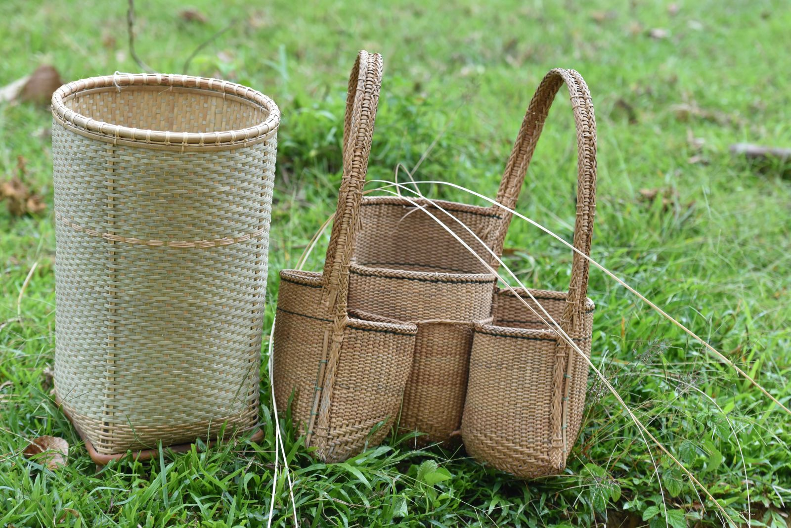 The large and small baskets of many designs have created the distinctions of the highland people