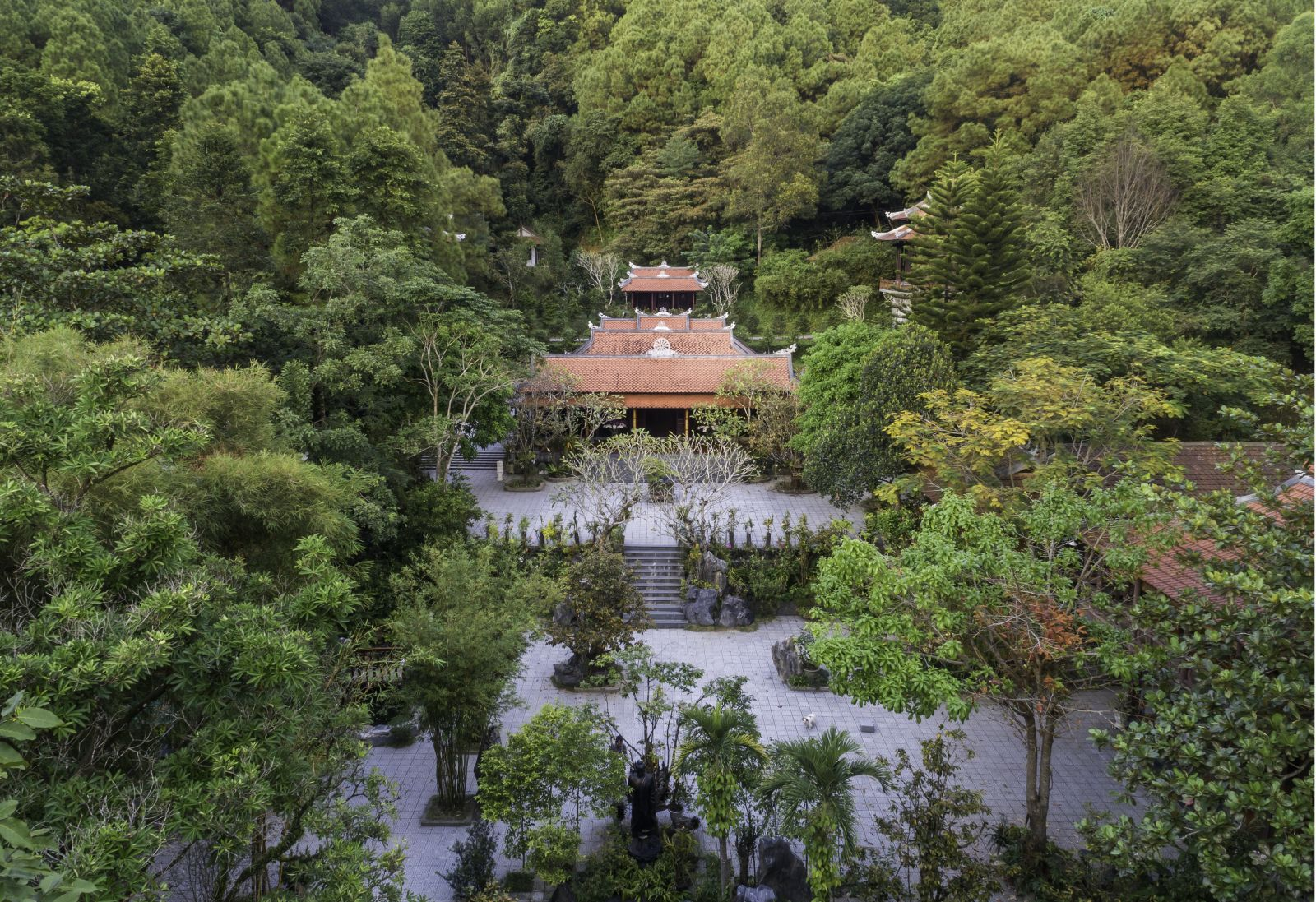 Panoramic view of the pagoda from above