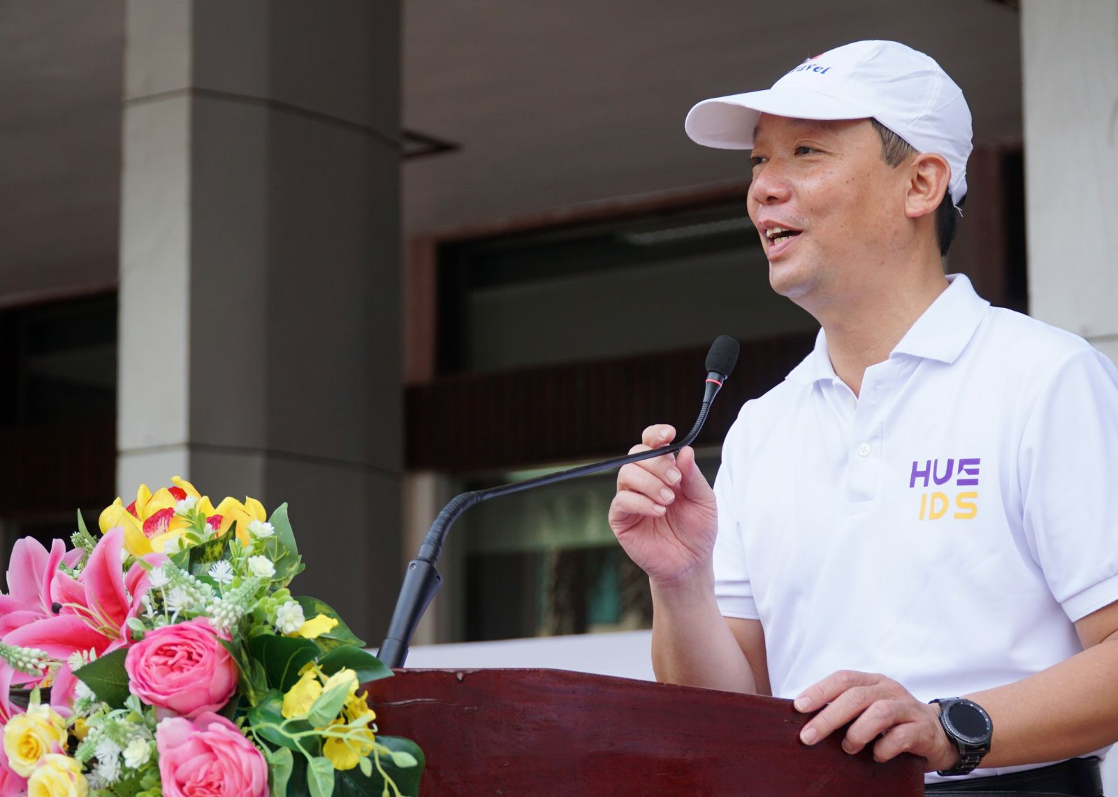 Vice Chairman of the provincial People's Committee Phan Thien Dinh highly appreciated the awareness of environmental protection through the