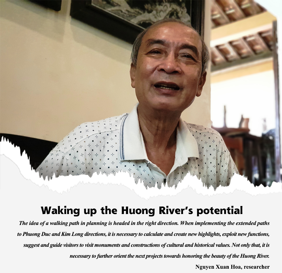 Beautiful walking paths along the Huong River: Adding new vitality to Hue