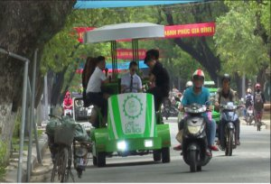 Mobile coffee for sightseeing in Hue