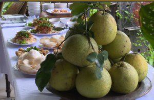 Delicious dishes from thanh tra grapefruit