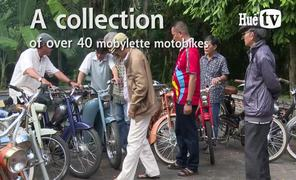 A collection of over 40 mobylette motorbikes