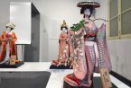 Unique traditional Japanese dolls