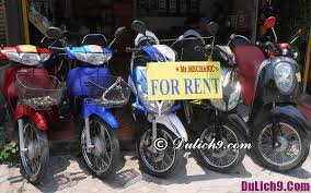 Ticket price and list of places for renting motorbikes in Hue