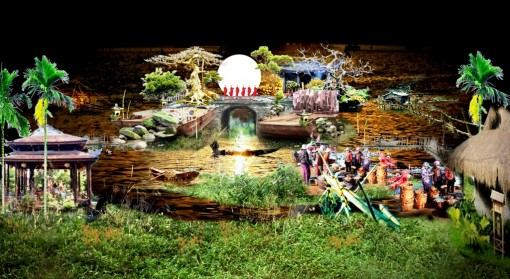 """Floating theater of """"Echoes from the Perfume River"""""""