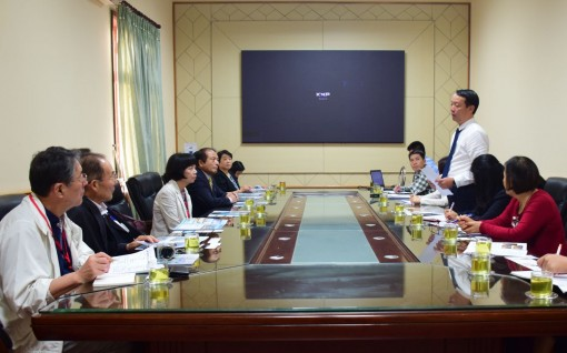 Vice Chairman Phan Thien Dinh welcomed the Japan - Vietnam Friendship Association from Ibaraki prefecture