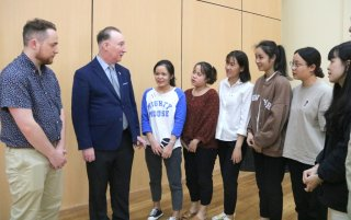 """Prof. Damien Roche: """"I feel the love between teachers and students from Hue students"""""""