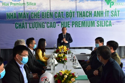 A high quality sand processing factory will be soon operated in Thua Thien Hue province