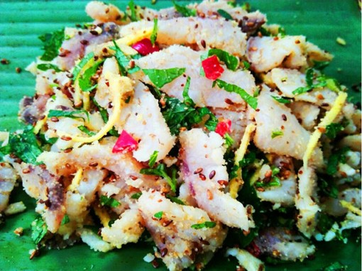 Fish salad for entertaining guests