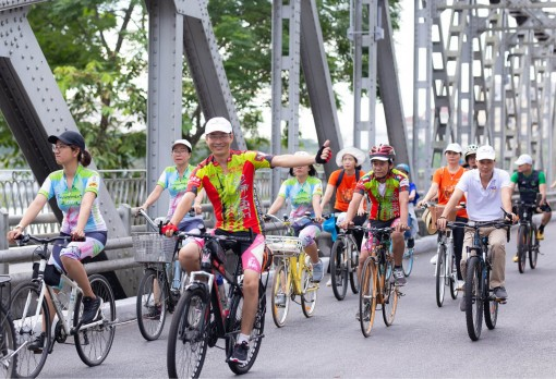 Hue City is oriented towards a cycling city