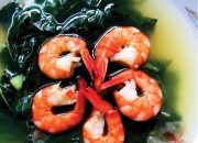 Chili leave soup with shrimp