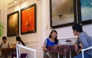 Paintings at café spaces