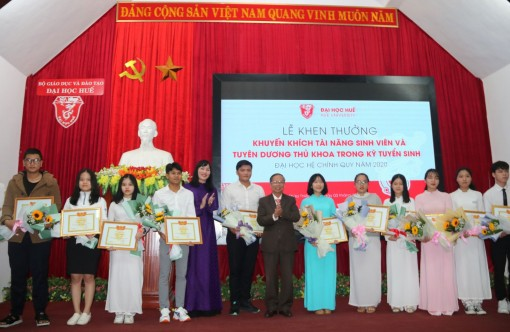 Nearly 50 students awarded for their talent and commended for coming first in the university entrance exam