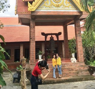 """""""The Golden Pagoda"""" in the heart of Hue Ancient Capital"""