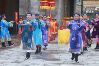 Re-enactment of Ban Soc ceremony under the Nguyen Dynasty