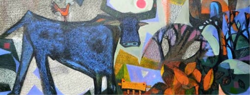 The buffalo in painting: symbol for peacefulness and prosperity