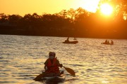 SUP surfing and swimming for cooling off on Huong River
