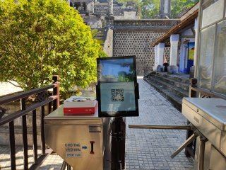 QR code scanning systems installed at relic sites